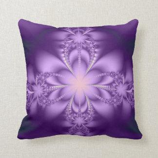 Purple butterflower pillow