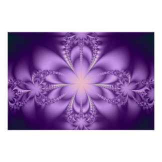Purple butterflower posters