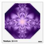 Purple butterflower room decal