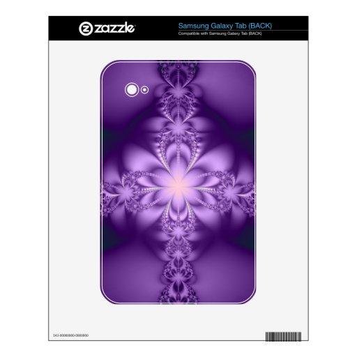 Purple butterflower samsung galaxy tab skin