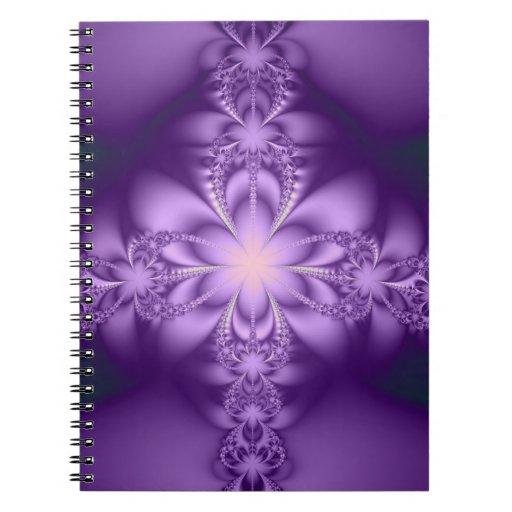 Purple butterflower spiral notebook