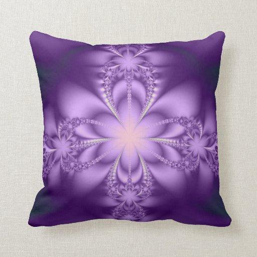 Purple Lavender Throw Pillows : Purple butterflower throw pillows Zazzle
