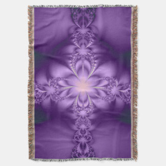 Purple butterflower throw blanket