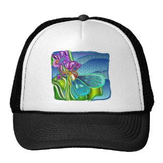 purple butterfly 1 mesh hats