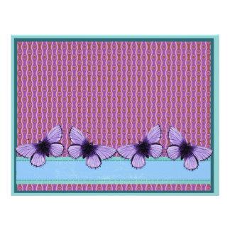 """Purple Butterfly 8.5"""" X 11"""" Flyer"""