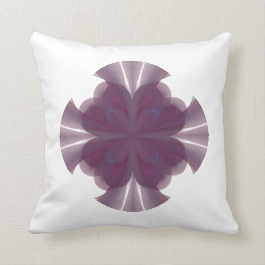 Purple Butterfly Abstract Art Throw Pillow