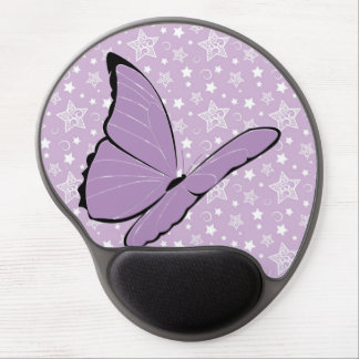 Purple Butterfly Abstract Gel Mouse Mats