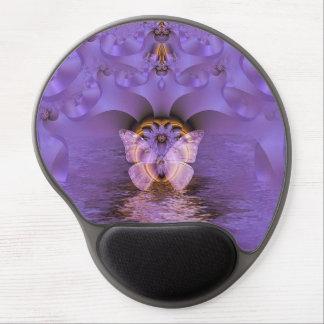 Purple Butterfly Abstract Gel Mousepad