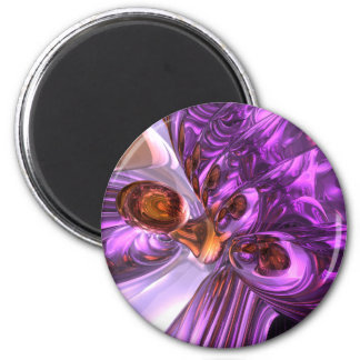 Purple Butterfly Abstract Magnet