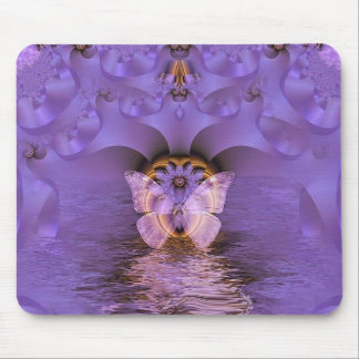 Purple Butterfly Abstract Mousepads
