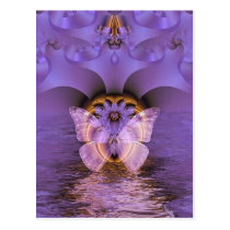 Purple Butterfly Abstract Postcard