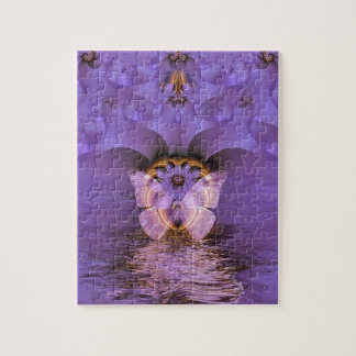 Purple Butterfly Abstract Puzzles