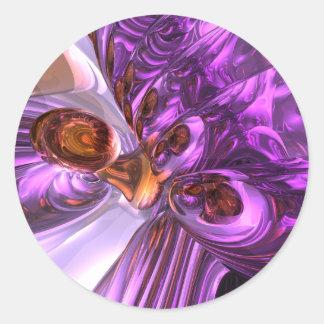 Purple Butterfly Abstract Sticker