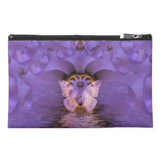 Purple Butterfly Abstract Travel Accessory Bag