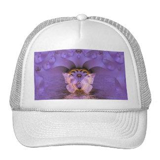 Purple Butterfly Abstract Trucker Hat