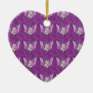 Purple Butterfly Angel Ceramic Ornament