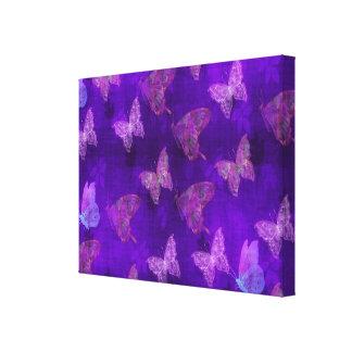 Purple Butterfly Art Gallery Wrapped Canvas