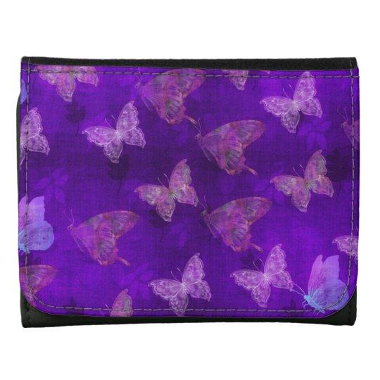 Purple Butterfly Art Wallet