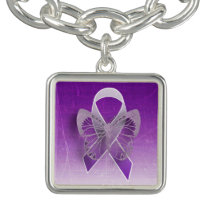 Purple Butterfly Awareness Ribbon Charm