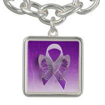 Purple Butterfly Awareness Ribbon Charm