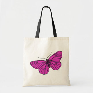 Purple Butterfly Budget Tote Bag