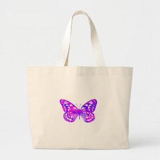 Purple Butterfly Jumbo Tote Bag