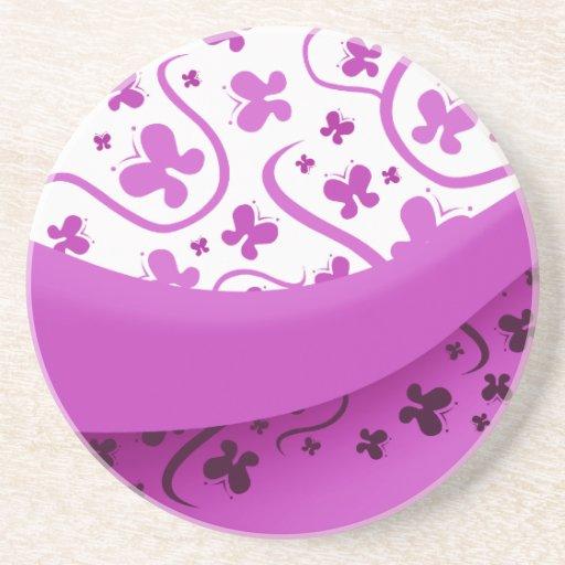 Purple Butterfly Beverage Coaster