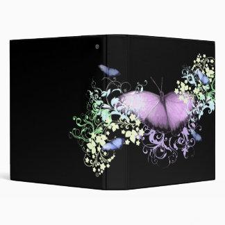 Purple Butterfly Binder
