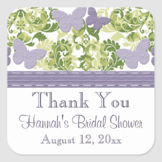 Purple Butterfly Bridal Shower Stickers Personaliz
