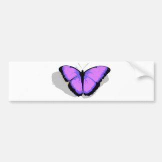 Purple Butterfly! Car Bumper Sticker