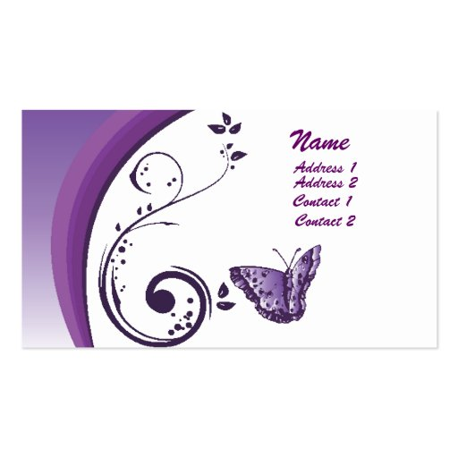 Purple butterfly business card zazzle for Butterfly business cards