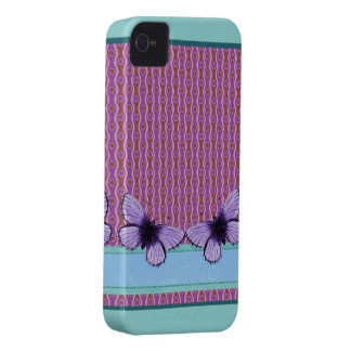 Purple Butterfly Case-Mate iPhone 4 Case