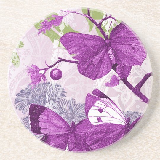Purple Butterfly Coaster