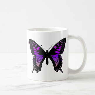 Purple Butterfly Coffee Cup