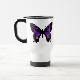 Purple Butterfly Coffee Cup mug