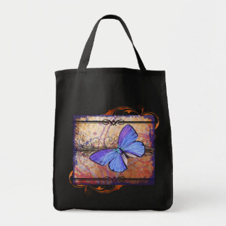 Purple Butterfly Collage Tote Bag
