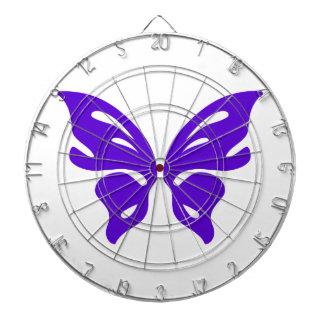 Purple Butterfly Dart Board