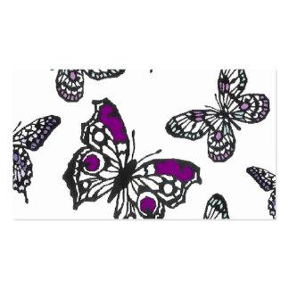 Purple Butterfly Design Business Card Template