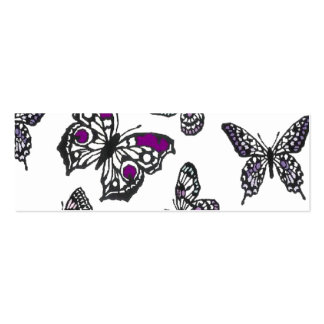 Purple Butterfly Design Business Cards