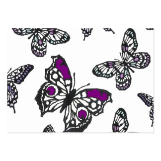 Purple Butterfly Design Business Card
