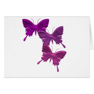 Purple Butterfly Design Card