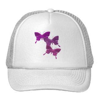 Purple Butterfly Design Hat