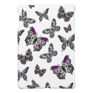 Purple Butterfly Design iPad Mini Cases
