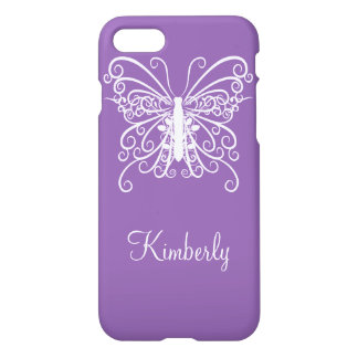 Purple Butterfly Design iPhone 8/7 Case