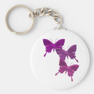 Purple Butterfly Design Keychain