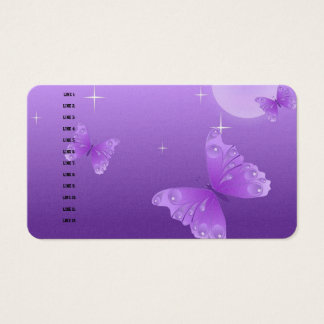 Purple Butterfly Digital Office Business Destiny Business Card