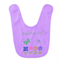 Purple Butterfly & Dragonfly Baby Bib