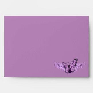 Purple Butterfly_ Envelopes