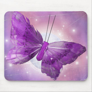 Purple Butterfly Fantasy Moon Designs Mouse Pads