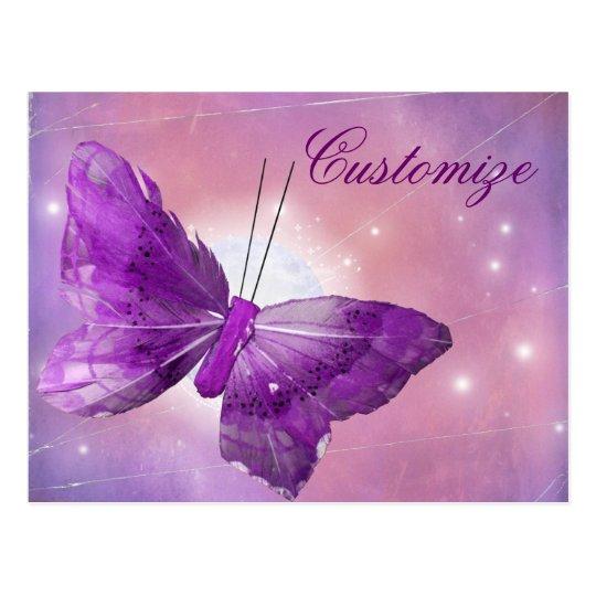 Purple Butterfly Fantasy Moon Designs Postcard